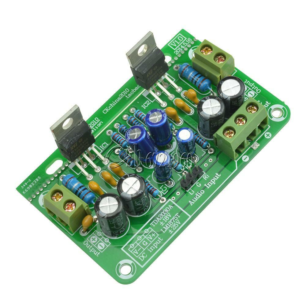Tda2030a Stereo Audio Power Amplifier Board Ocl 18w2 Compatible Kit Mono Lm1875t 30w X2 1 Of 6only 5 Available