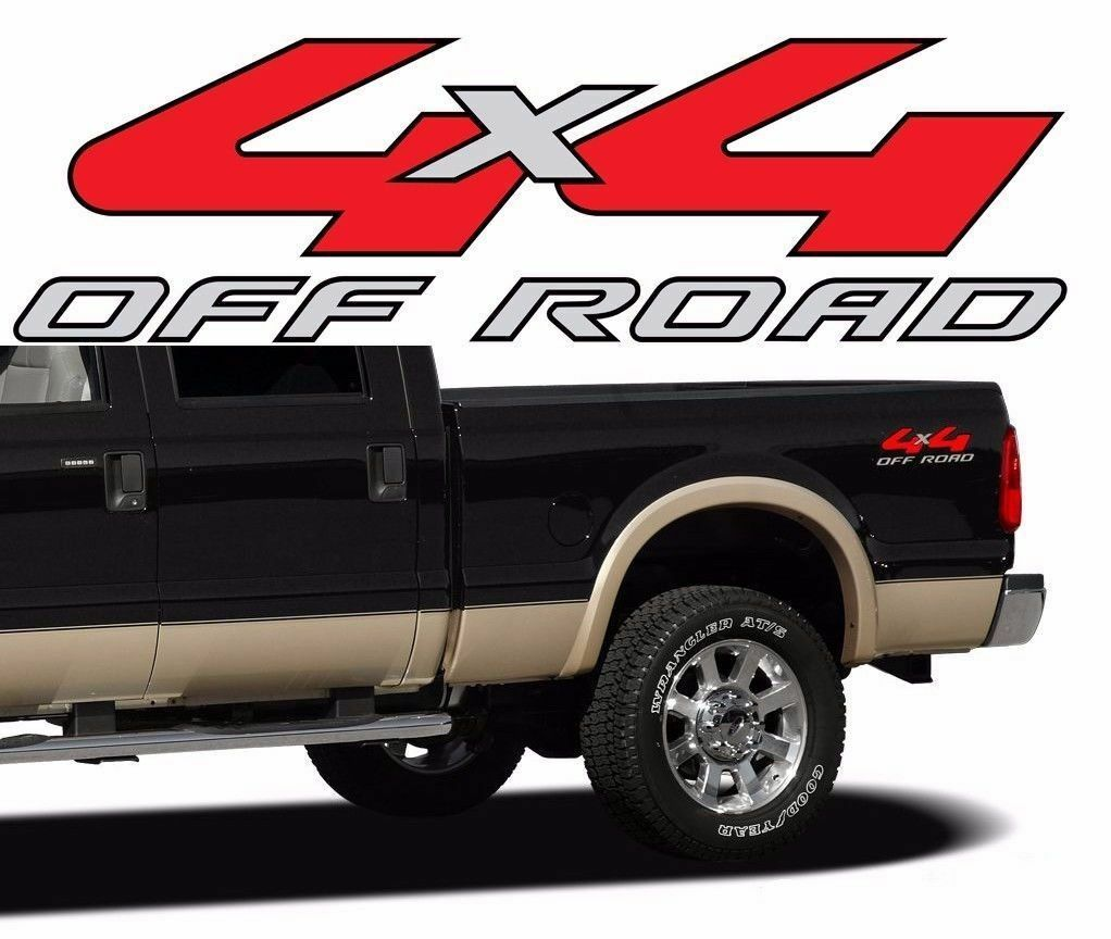 2005 2006 4x4 Off Road Decals Ford F150 F250 Super Duty Bed Bedside F 150 Truck B2 1 Of See More