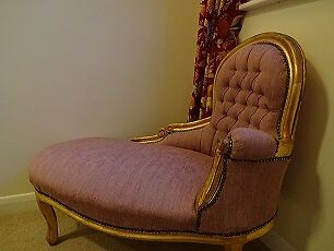 Antique style shabby chic chaise longue for Antique chaise longue ebay