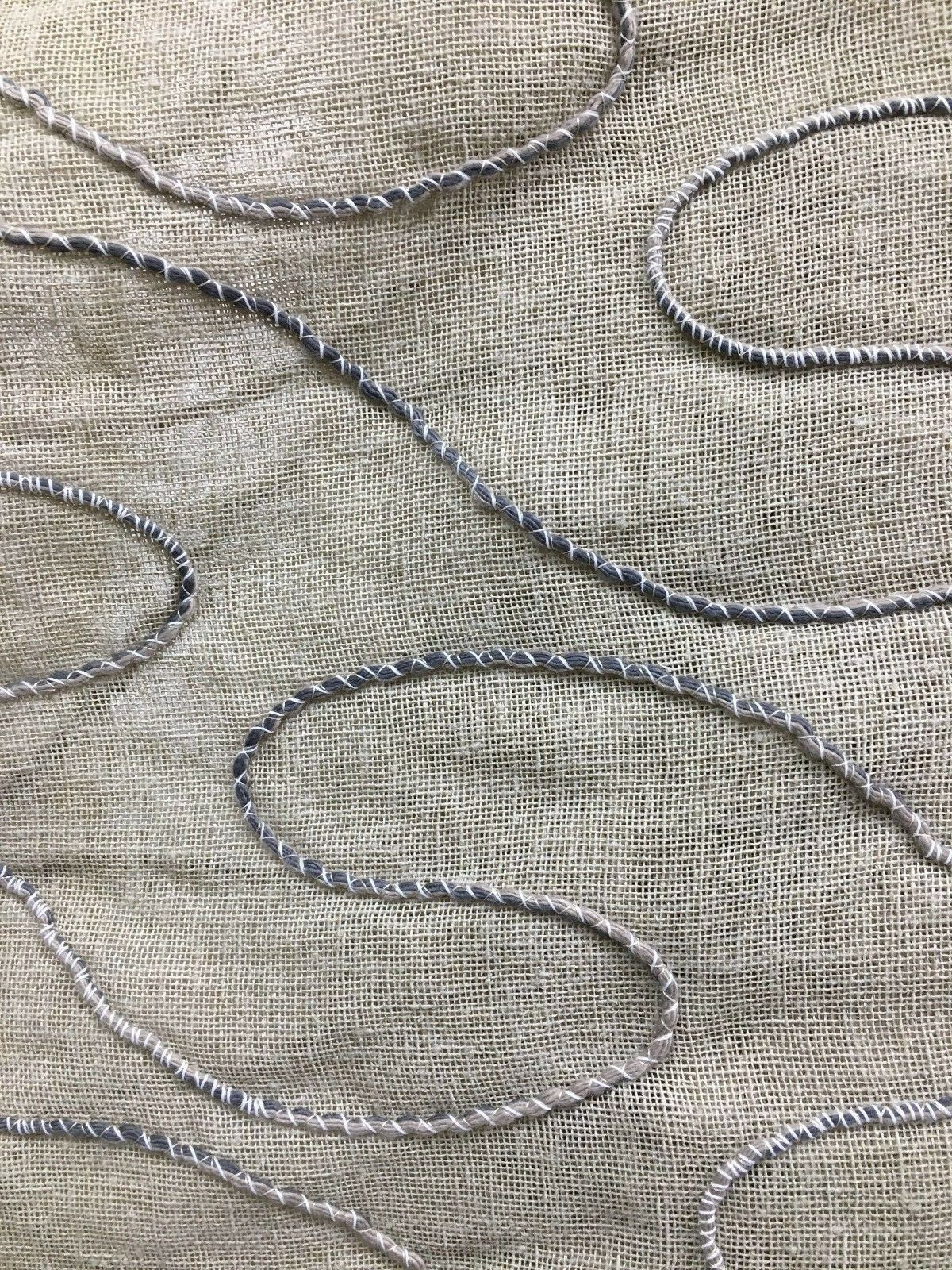 Natural Beige Embroidered Linen Drapery Fabric 110 In Sold Bty 1 Of 8 See More