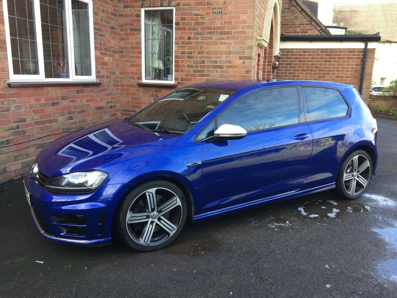 volkswagen golf r mk7 2015 hatchback dsg lapiz blue not audi s3 s4 type r gti 16. Black Bedroom Furniture Sets. Home Design Ideas