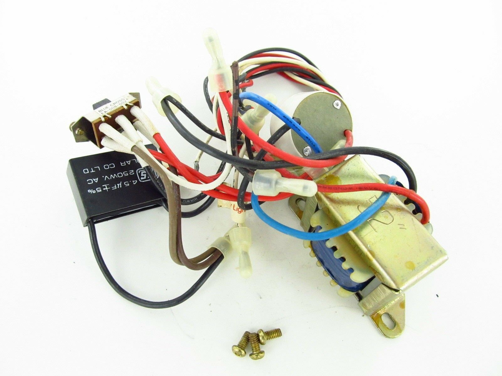 #5 - Used Nutone Ceiling Fan Wiring Harness with Switchs/Capacitor/Parts 1  of 5Only 2 available See More