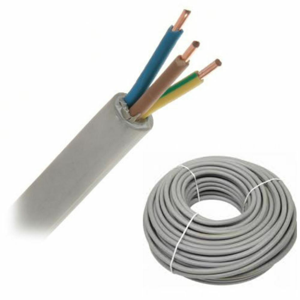 ELECTRICAL CABLE 2/3/4 SOLID Core Twin & Earth Round Mains Wire 1 ...
