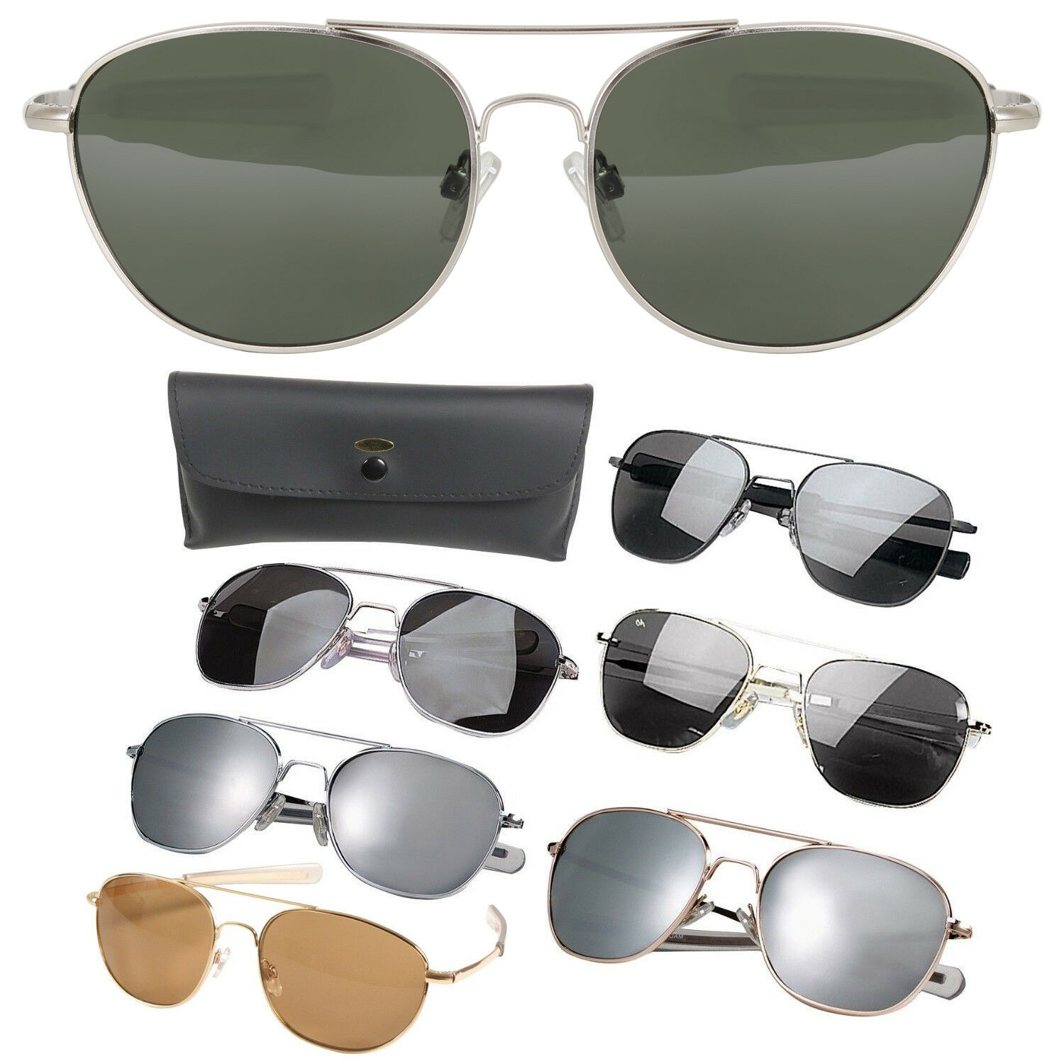 AVIATOR US AIR Force Style Pilot Sunglasses Military Army Frames ...
