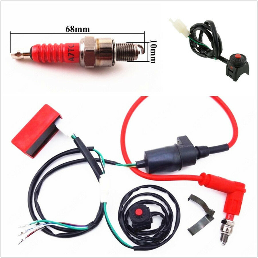 Universal Professional 50 150cc Atv Wiring Harness Kill Switch M12 1 Of 12free Shipping