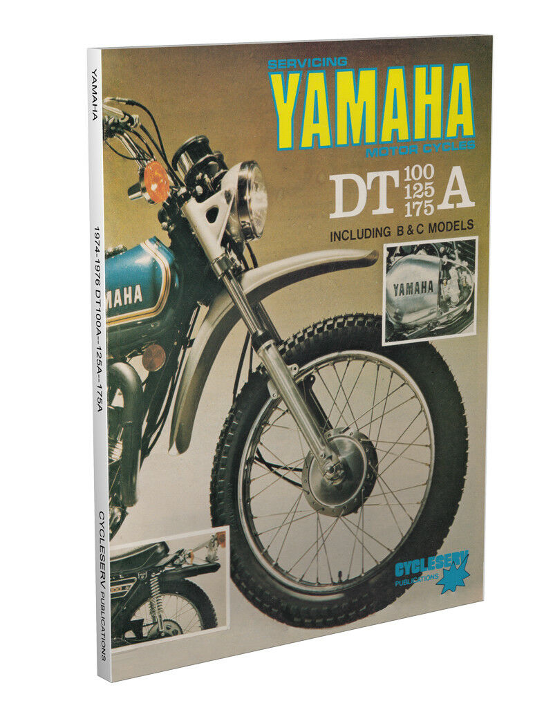 Yamaha Dt 100 Dt175 Enduro Motorcycle Wiring Schematics Diagram 1974 360 1975 1976 Shop Manual Dt100 Dt125