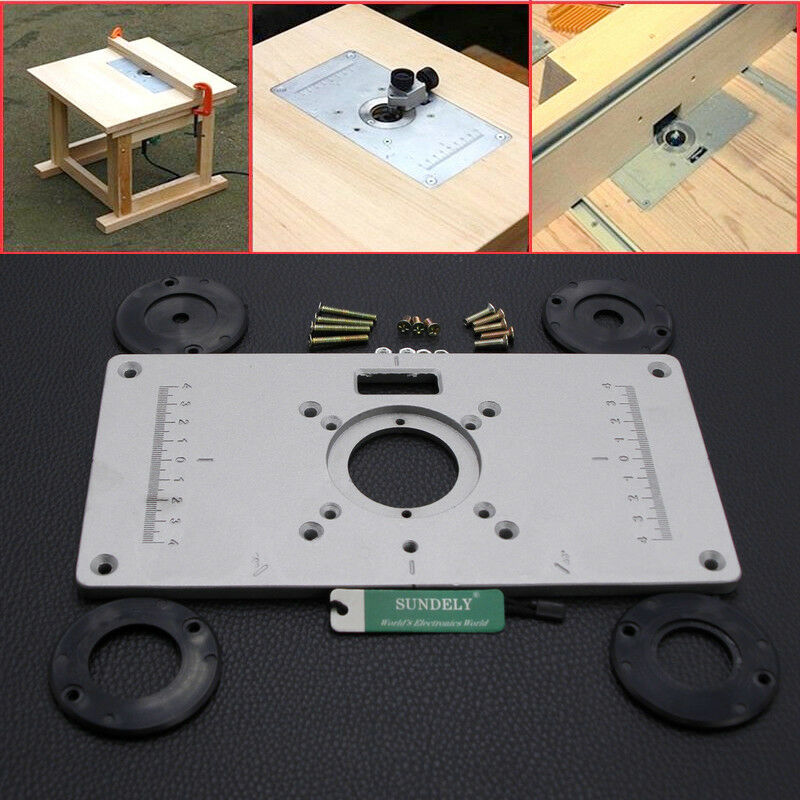 Hot aluminum router table insert plate 235 x 120 x 8mm with ring for 1 of 5free shipping keyboard keysfo Image collections