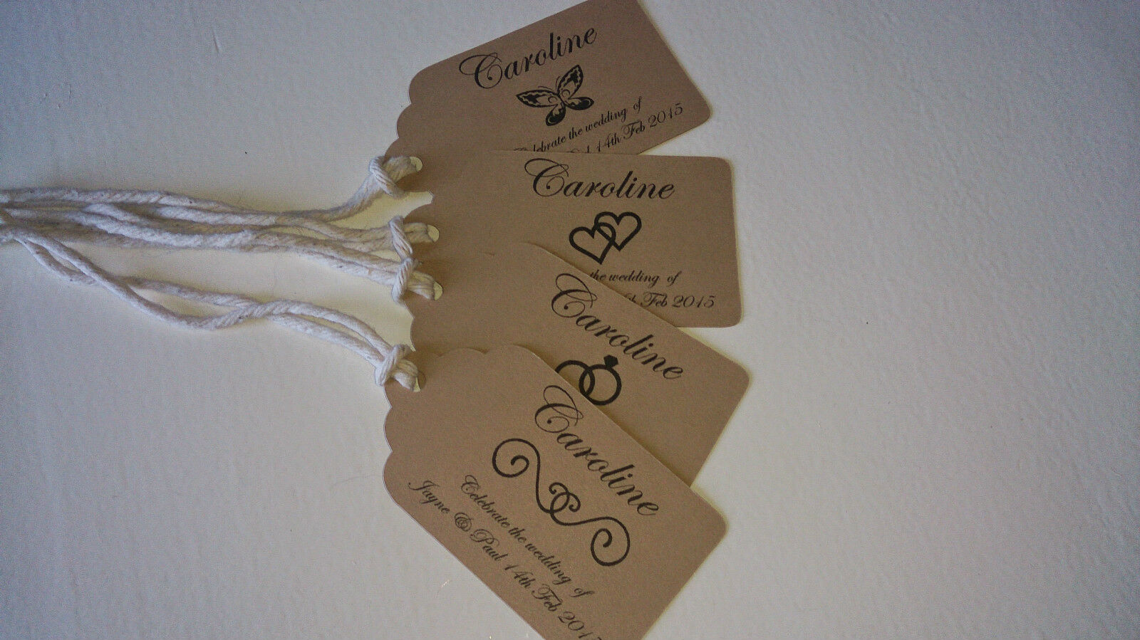 20 wedding table name tags place cards in vintage brown new for