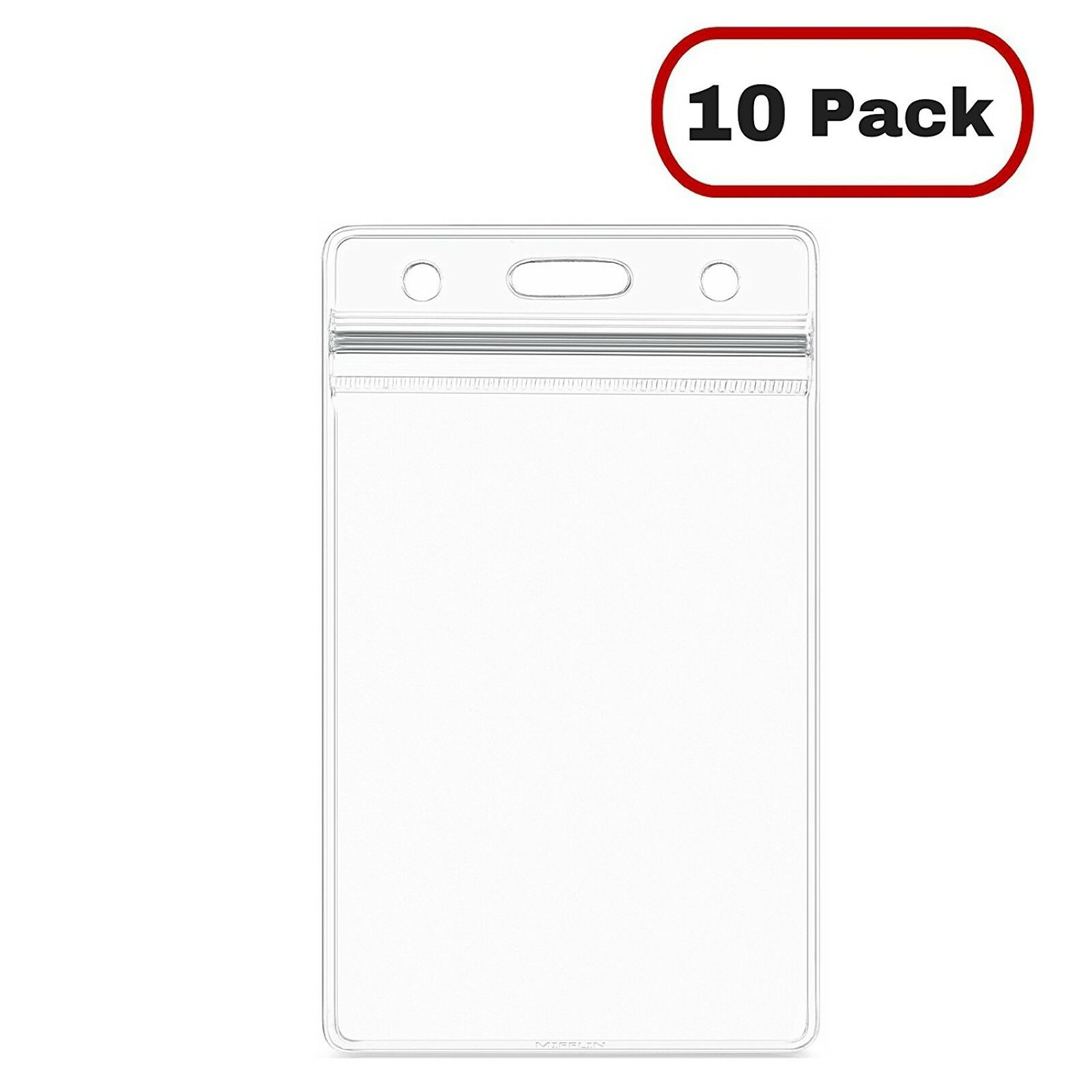 Id card holder clear plastic badge resealable waterproof business id card holder clear plastic badge resealable waterproof business case 10pcs 1 of 10free shipping colourmoves