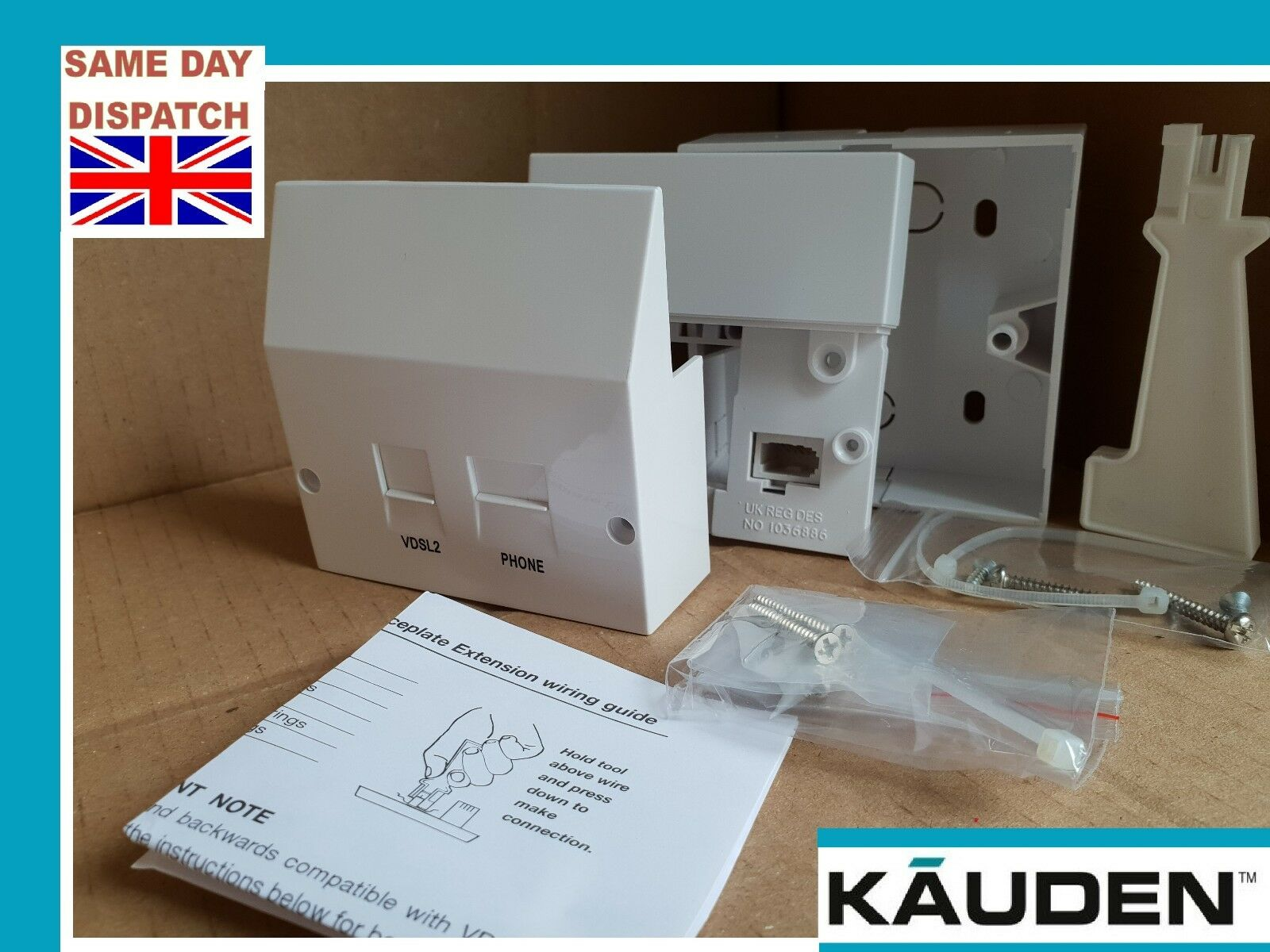Bt Telephone Master Socket Idc Vdsl Faceplate Filter Box Tool 4 Line Wiring 1 Of 5 See More