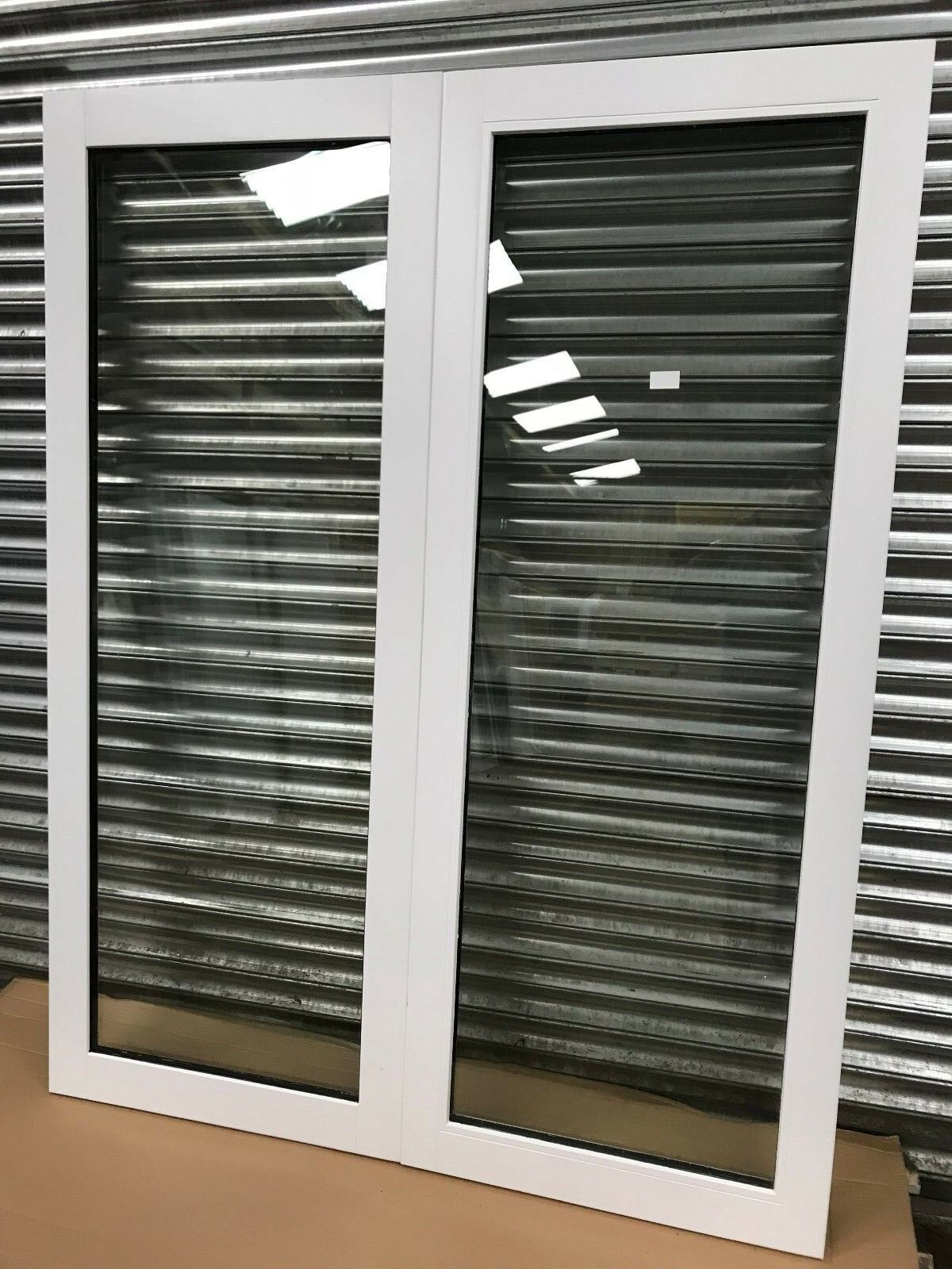 External Timber French Doors Double Glazed White Wood Pair 60 X 77