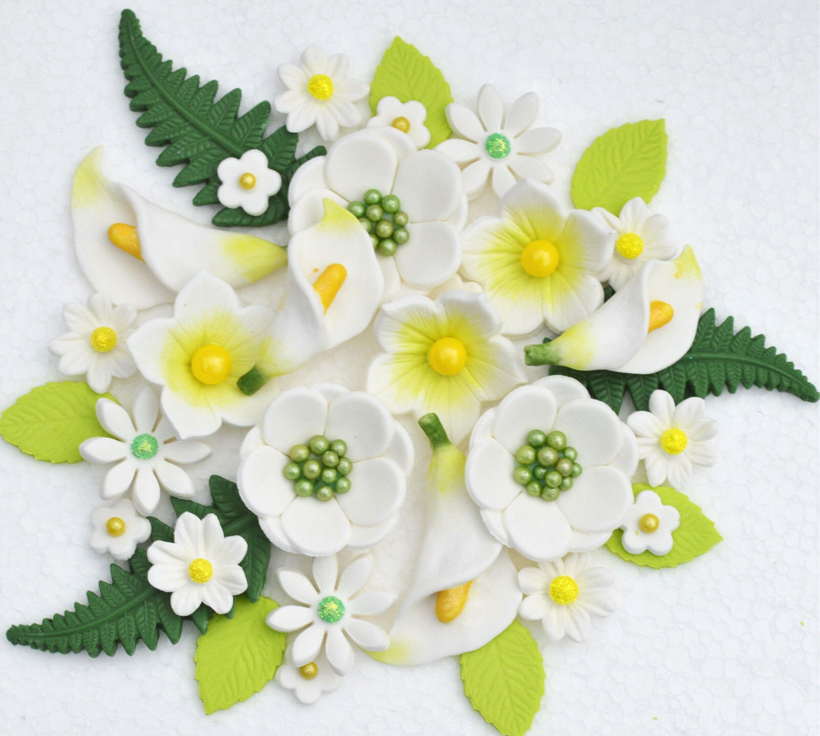 Edible Green Wedding Cake Flowers Toppers 1 Of 5 See More
