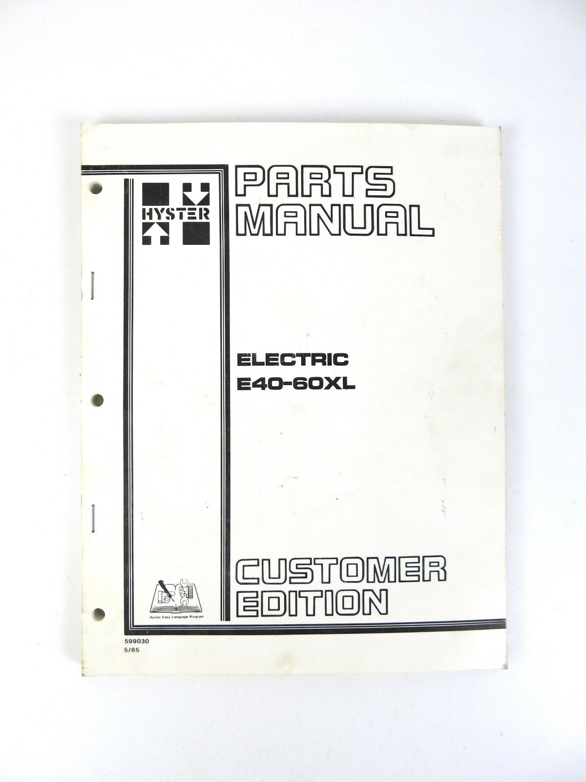 Hyster Forklift Parts Manual E40 50 60XL 36/48 Volt 1985 1 of 1Only 1  available ...