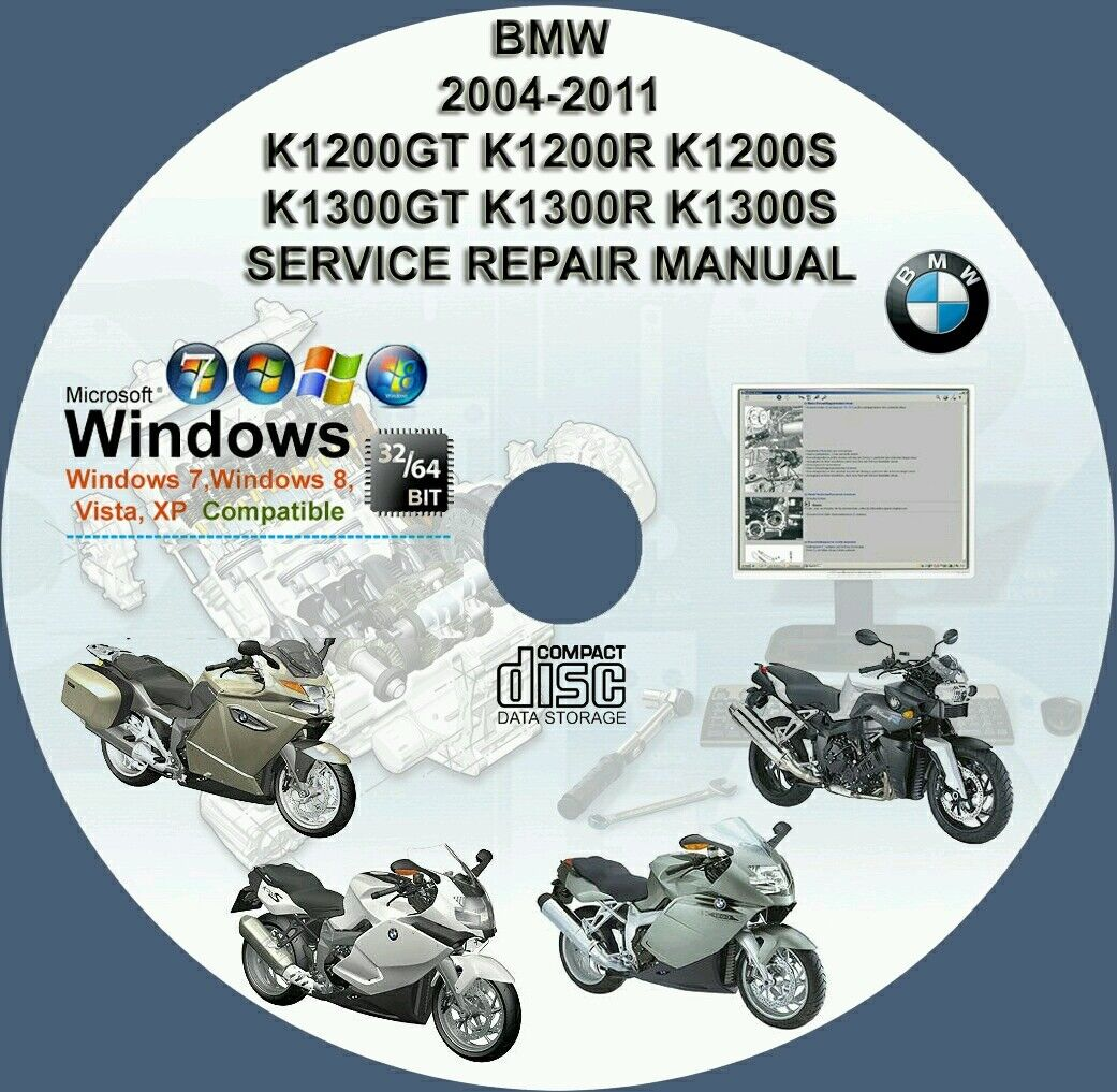 Bmw K1200Gt K1200R K1200S K1300Gt K1300R K1300S Kservice Repair Manual On  Dvd 1 of 1FREE Shipping ...