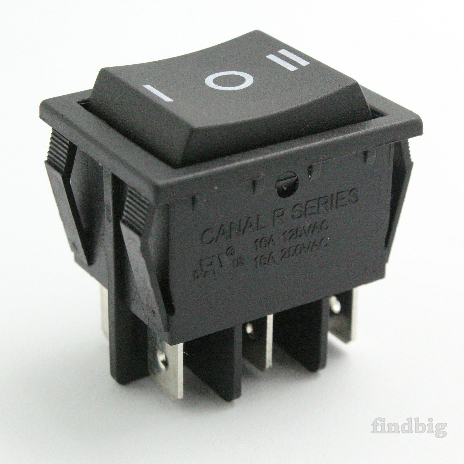 Rocker Switch Black Up To 20a 250v 10t85 6pin Canal R Serieslight Triple Light Wiring Diagram Leviton 1755 1 Of 4free Shipping