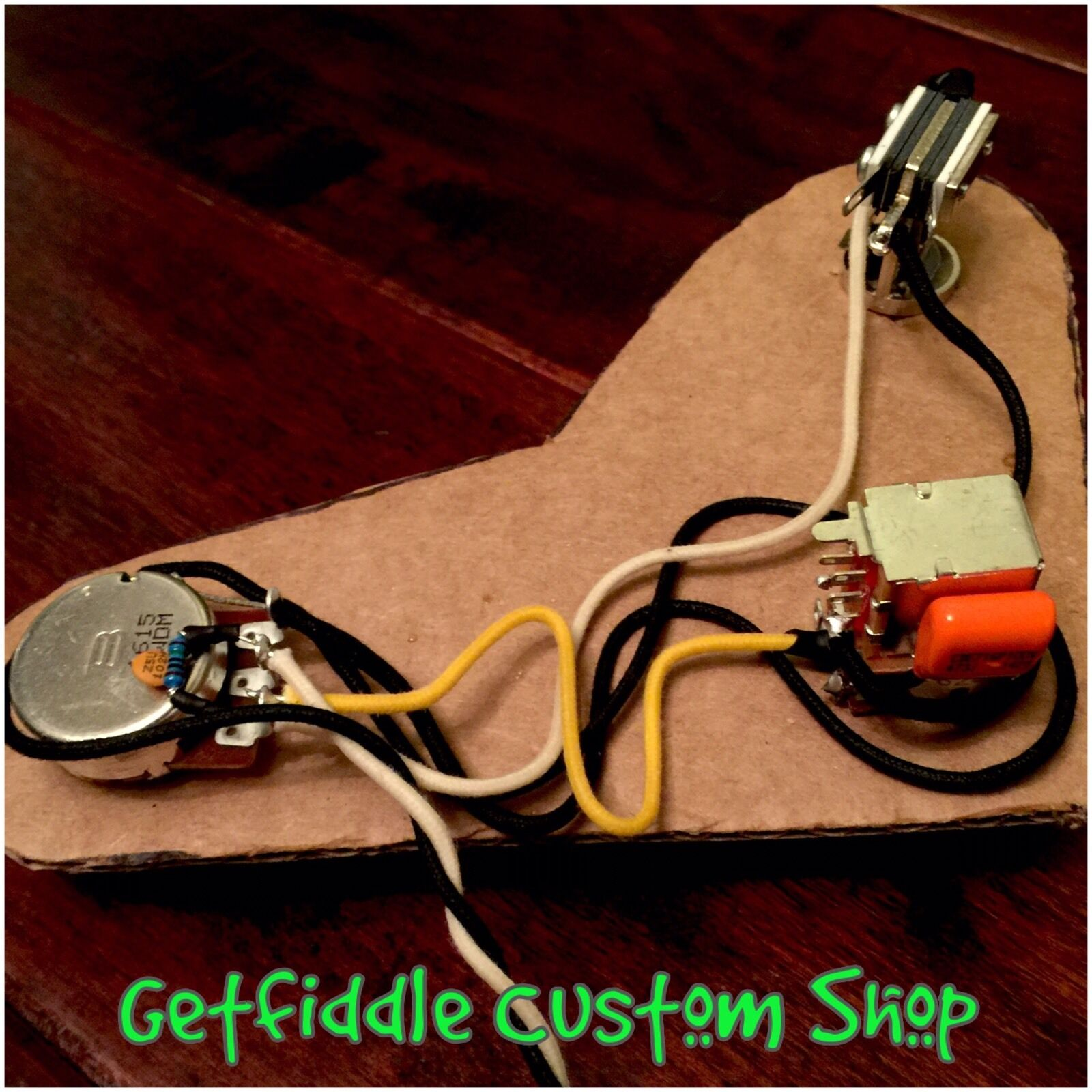 Prs Upgraded Wiring Harness Coil Split Push Pull Pot Bourns 1 Volume One Tone Of 7free Shipping