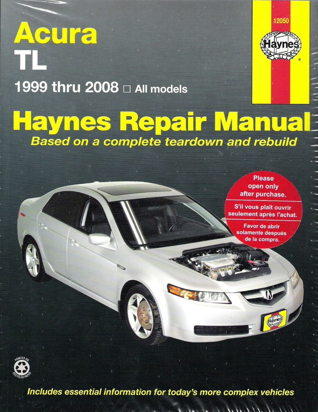 1999-2008 Acura TL Haynes Repair Service Workshop Shop Manual Book Guide  7446 1 of 1FREE Shipping ...