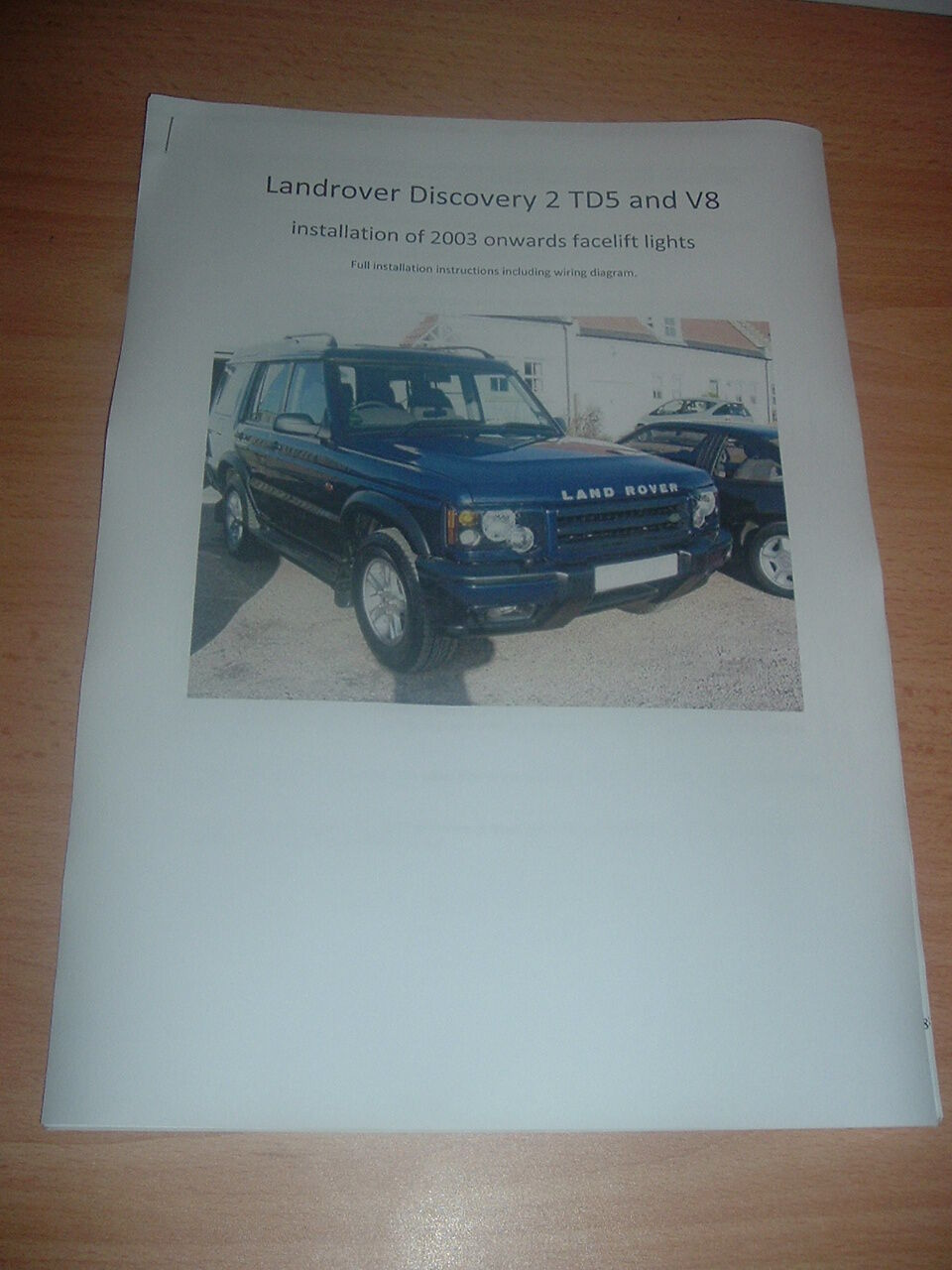 Landrover Discovery Td5 V8 Headlight Headlamp Facelift Wiring Land Rover Diagram Manual 1 Of See More