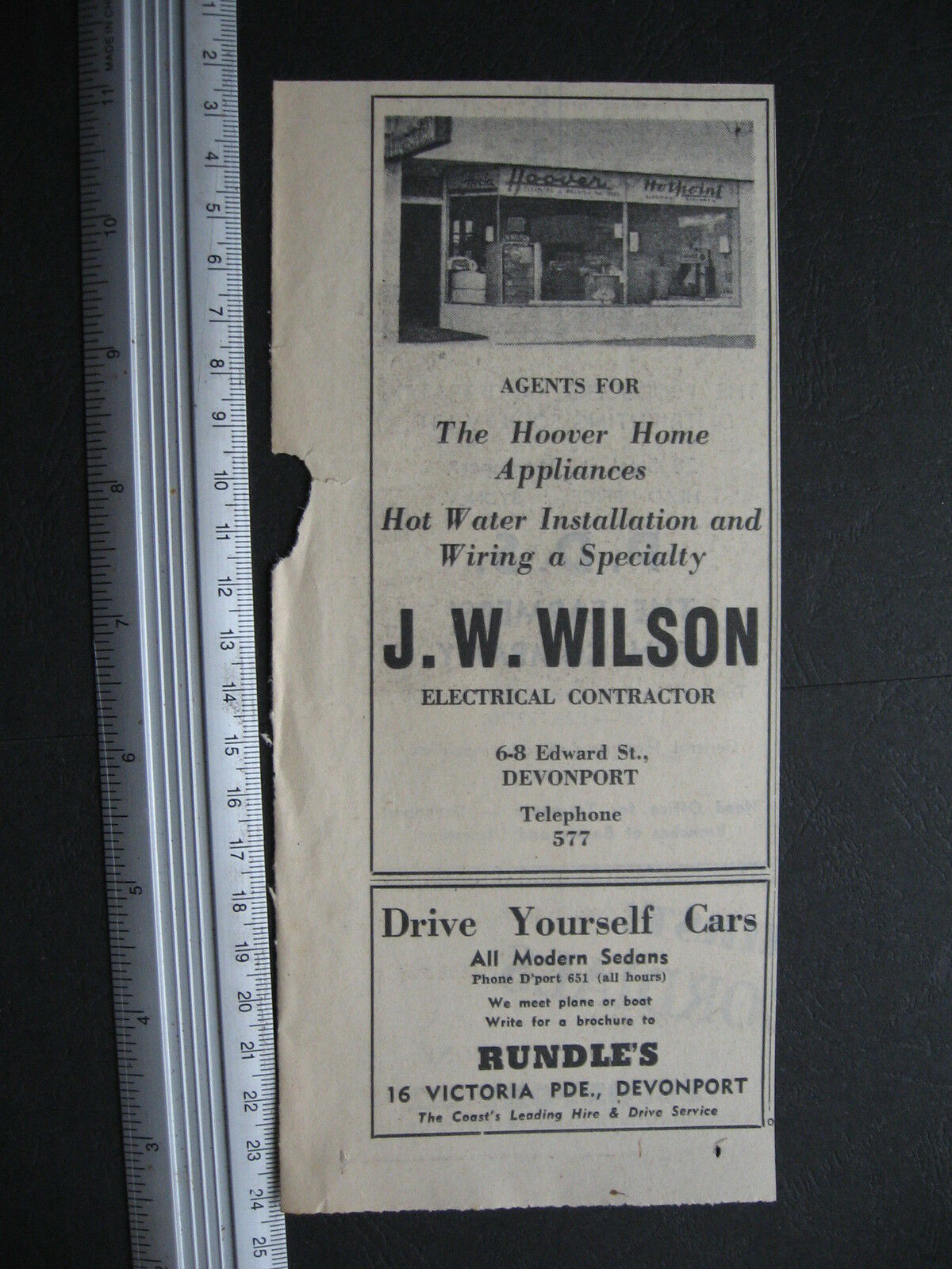 J W Wilson Electrical 6 8 Edward St Devonport 1954 Advert 4370 Home Wiring In 1 Of See More