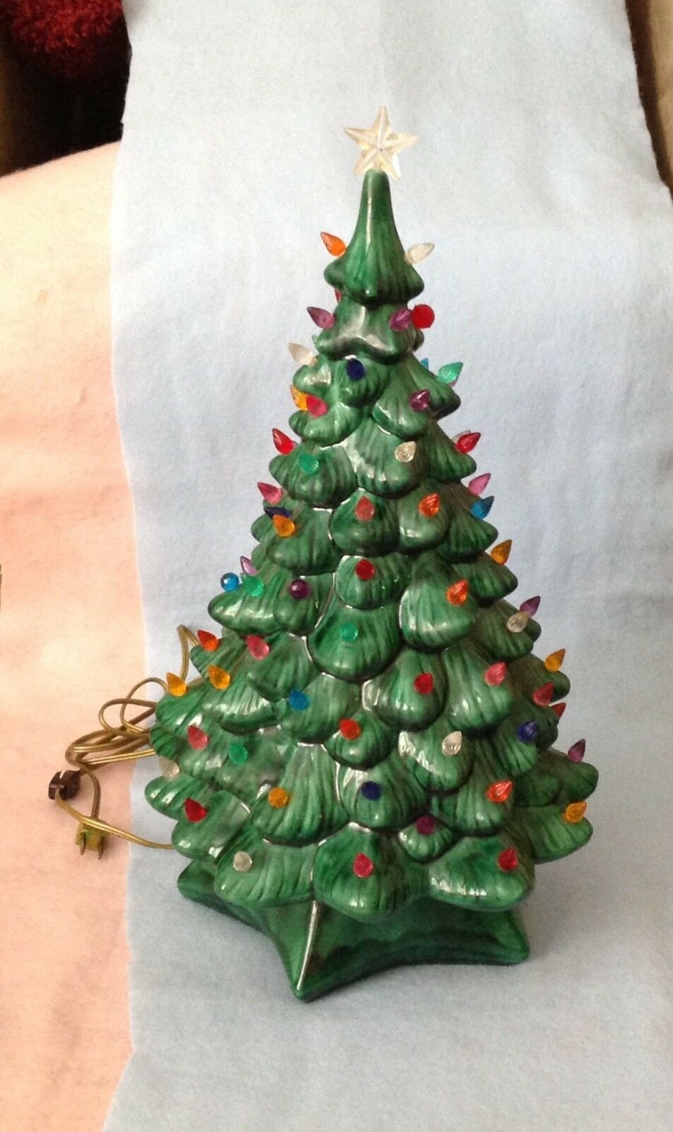 vintage 20 ceramic christmas tree with lights