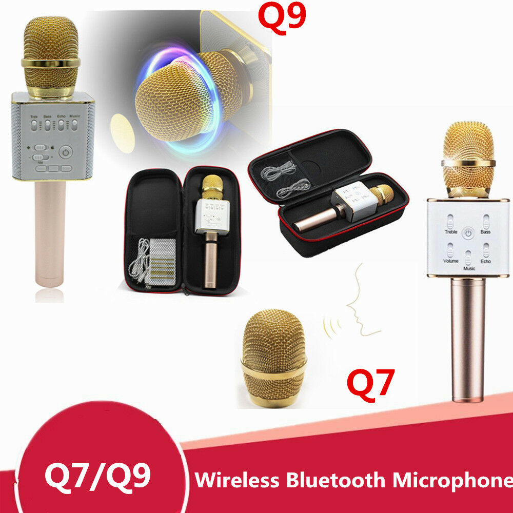 Q9 Q7 Wireless Bluetooth Handheld With Ktv Karaoke Microphone Mic Micgeek Speaker Phone 1 Of 5free Shipping