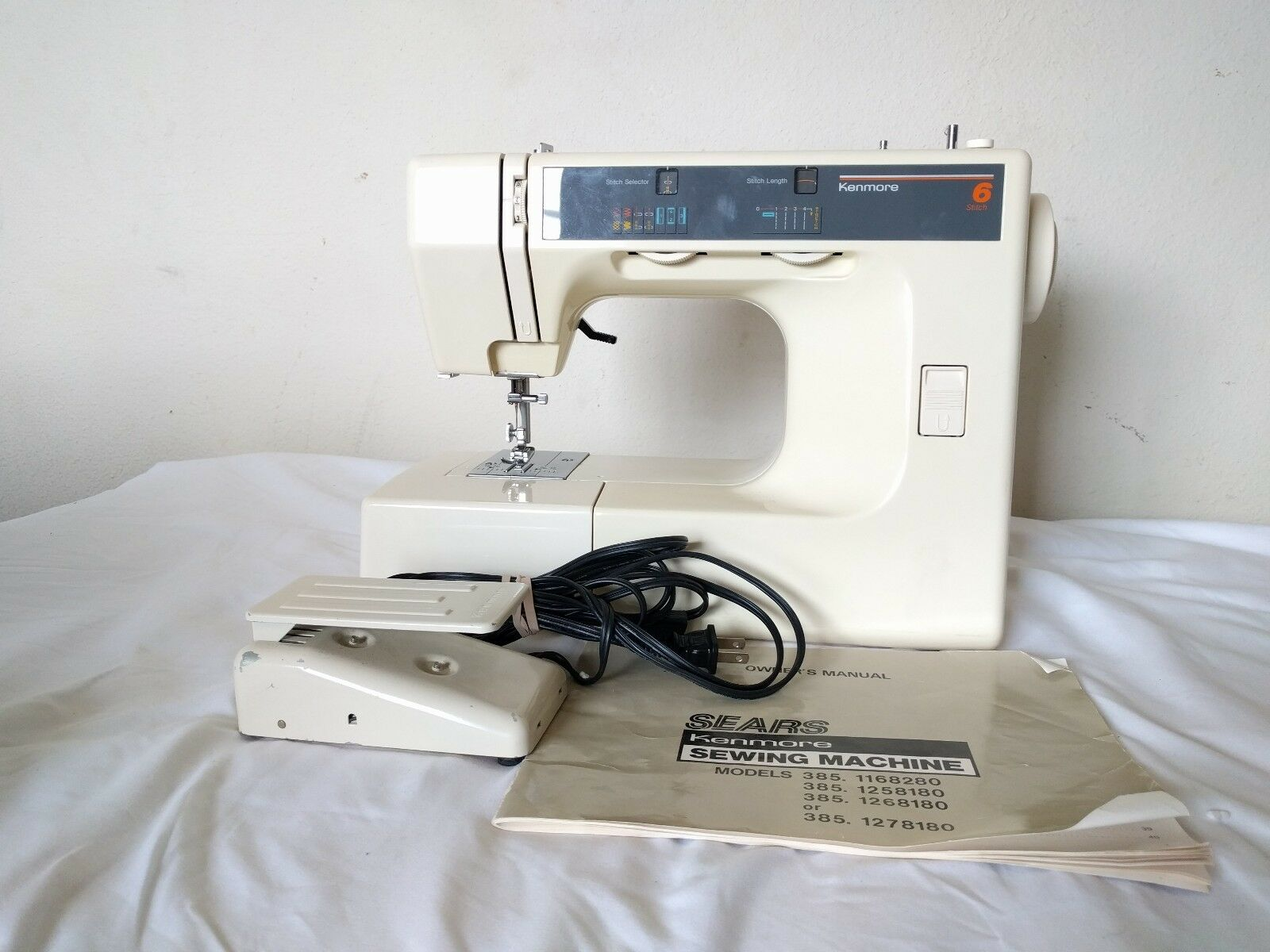 Kenmore Model 385 Electronic Household Sewing Machine/Foot Pedal/Manual  Works 1 of 12Only 1 available ...