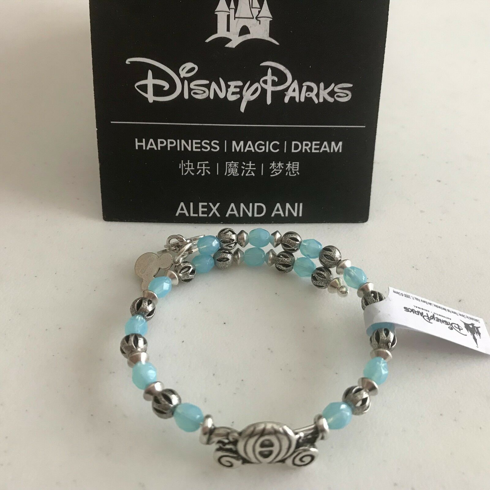 Alex Ani Cinderella Carriage Charm Bracelet Silver Wrap Disney Parks Retired 1 Of 10only 5 Available