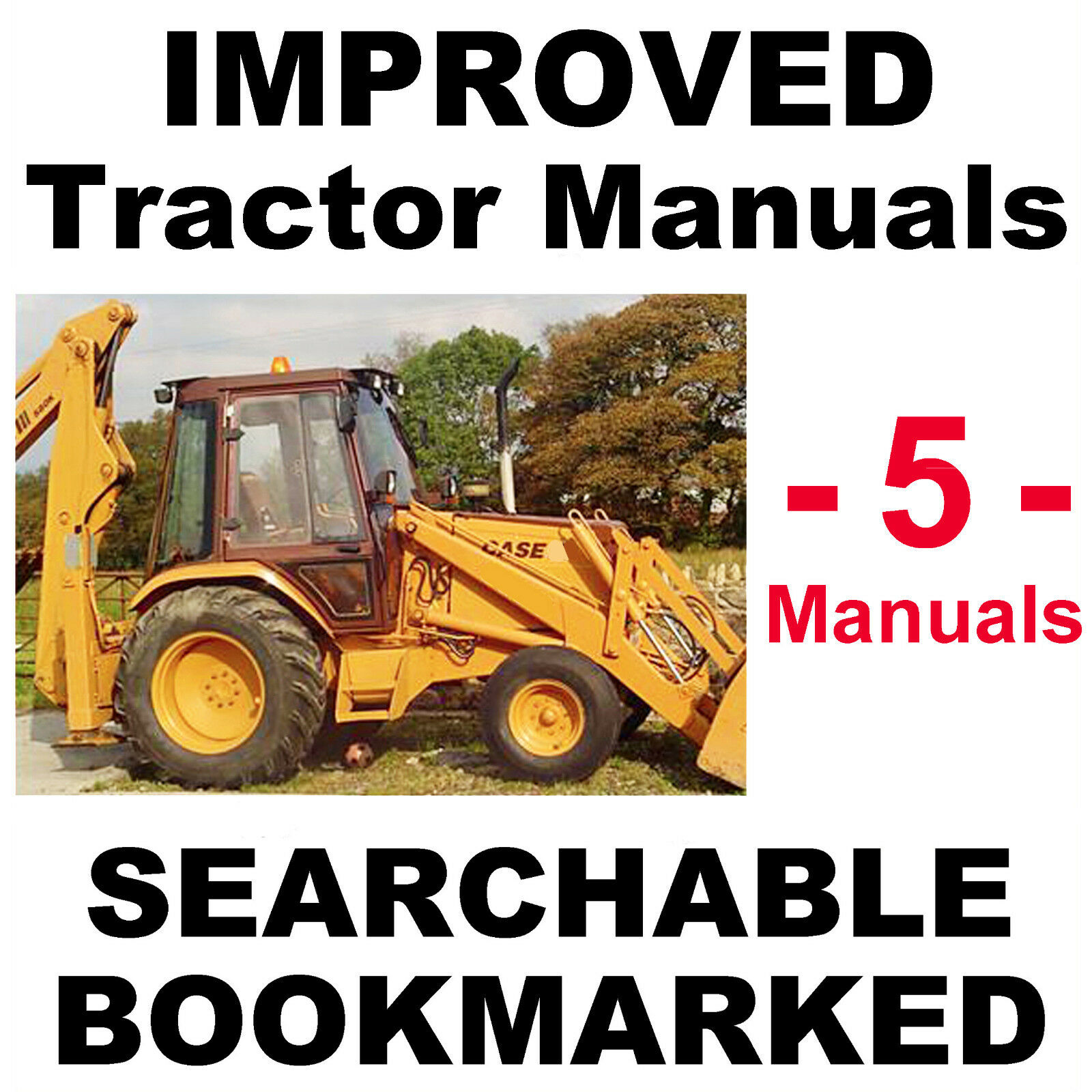 Case 580 Super K 580SK Tractor Backhoe SERVICE OWNER PARTS MANUAL -5-  MANUALS CD 1 of 12FREE Shipping Case 580 ...