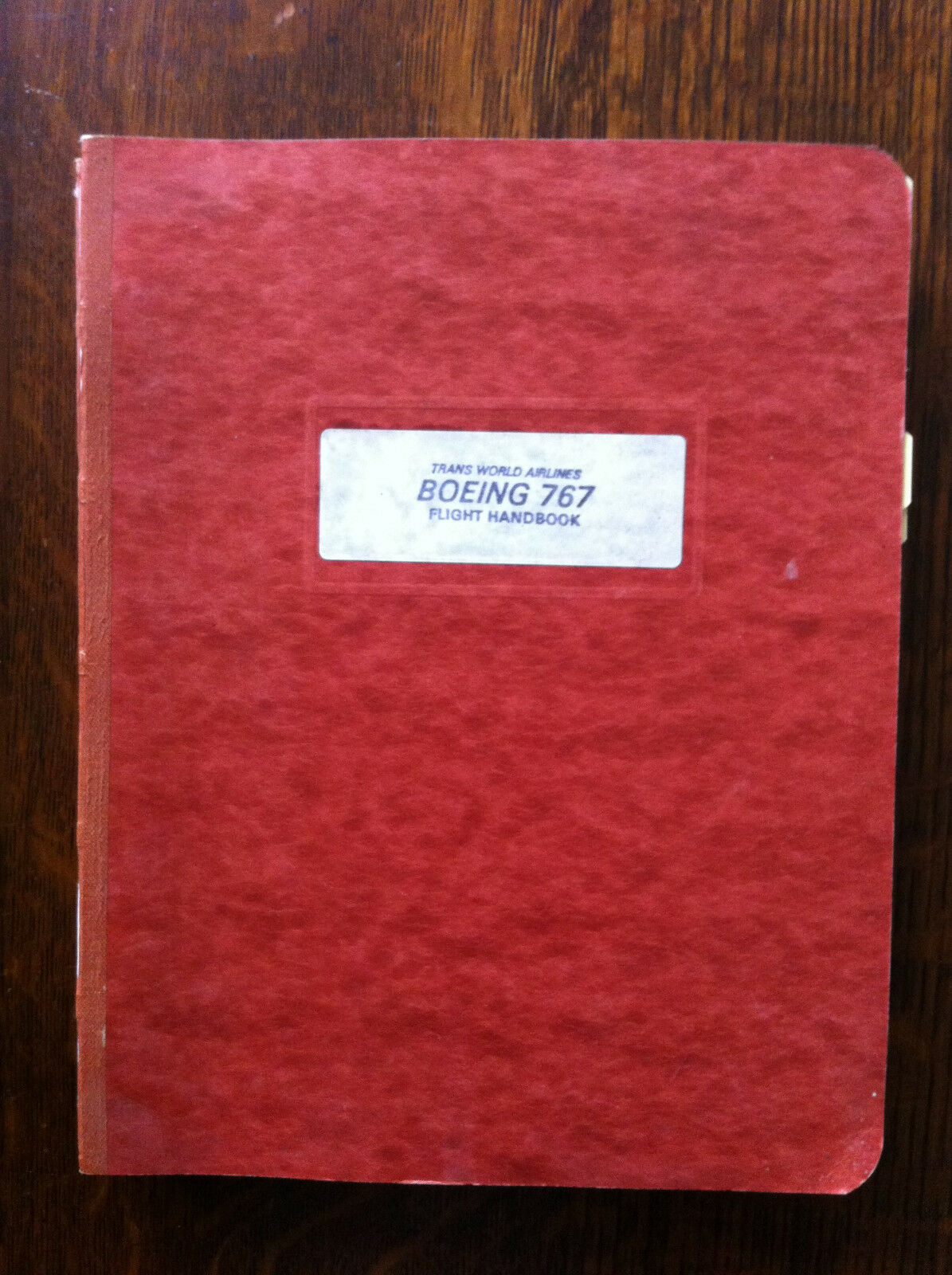 TWA Trans World Airlines BOEING 767 Flight Operations Handbook Manual  Vintage 1 of 7FREE Shipping See More