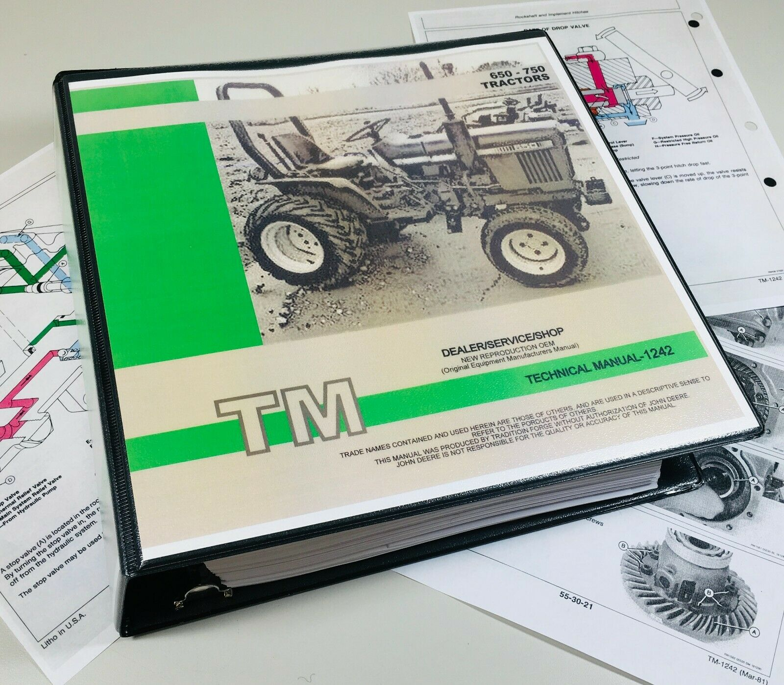 650 750 John Deere Technical Service Shop Repair Manual 800 pages! 1 of  12FREE Shipping ...
