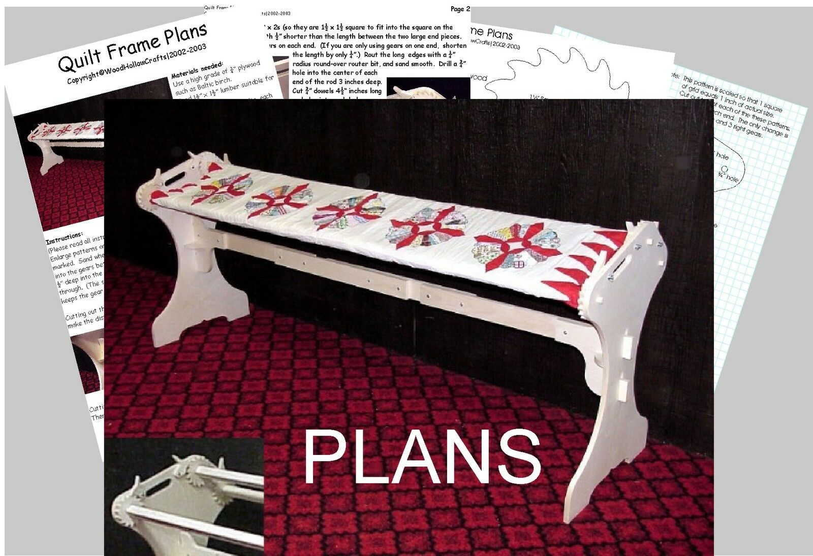 Quilting Frame Plans Easy To Build 1299 Picclick