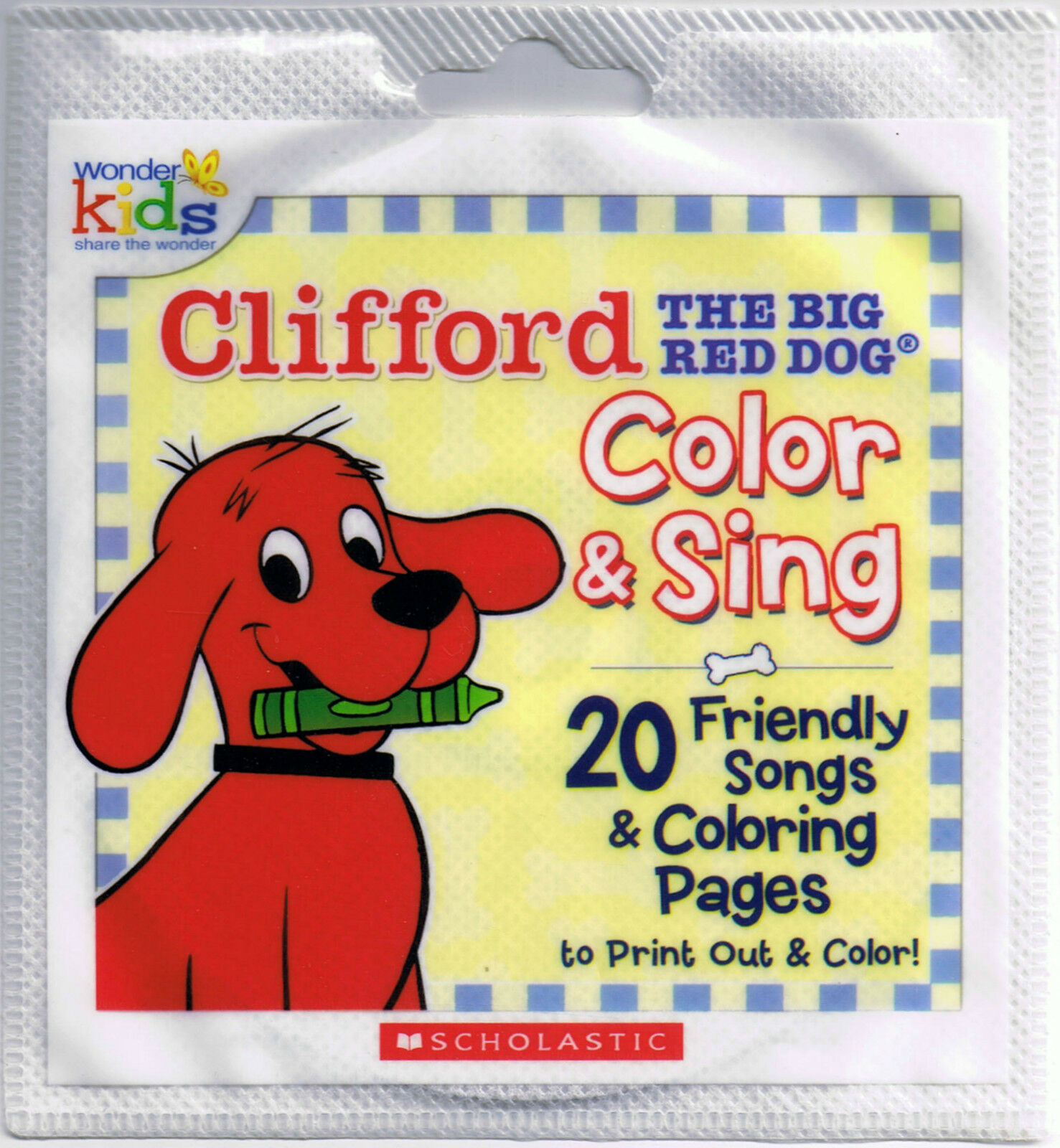 20 CLIFFORD THE Big Red Dog COLOR & SING Friendly Songs & Coloring ...