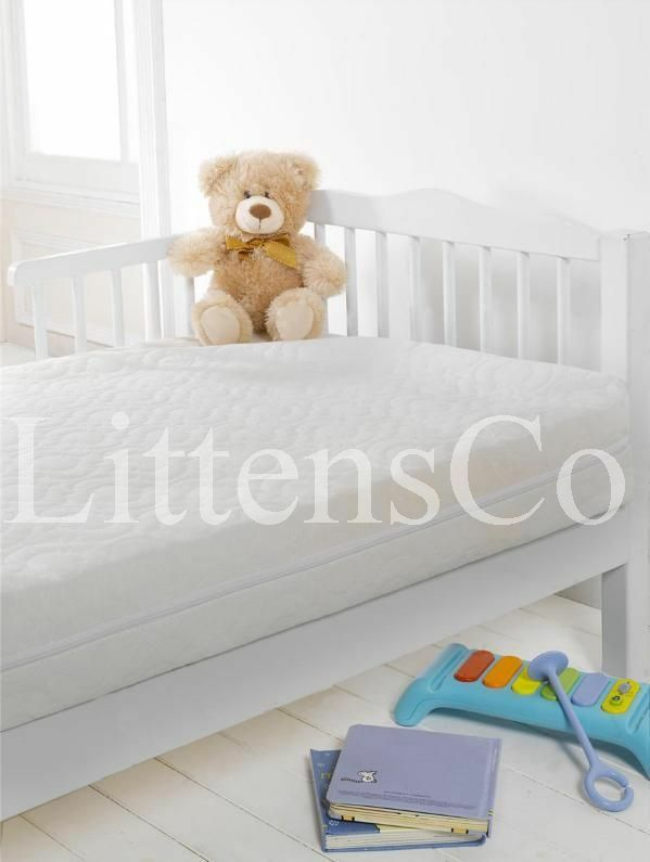 New sprung breathable baby toddler cotbed spring for Breathable crib mattress