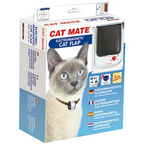 Chatiere Porte Chat Cat Mate Electromagnetic Blanc