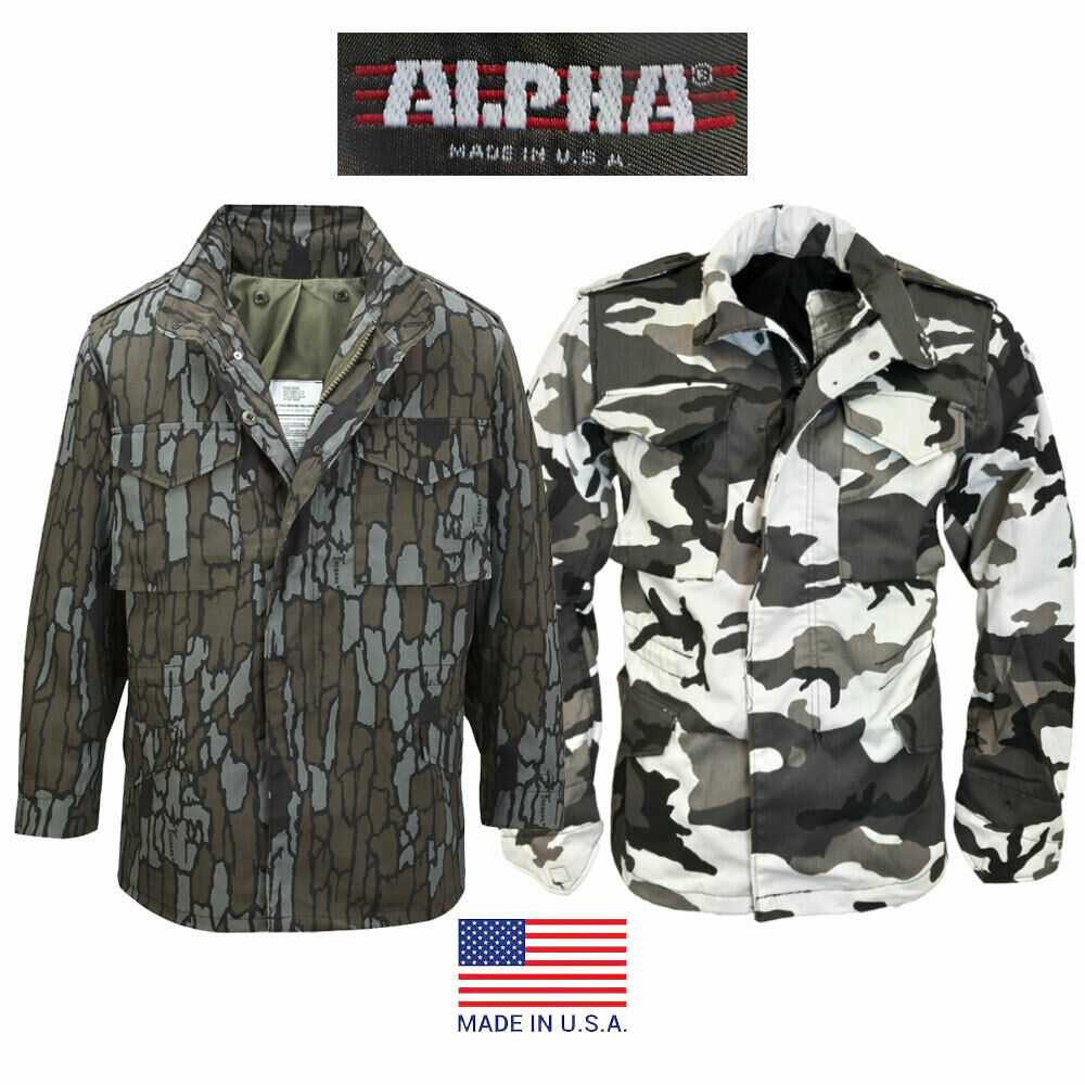 new alpha industries usa military army m 65 m65 jacket. Black Bedroom Furniture Sets. Home Design Ideas