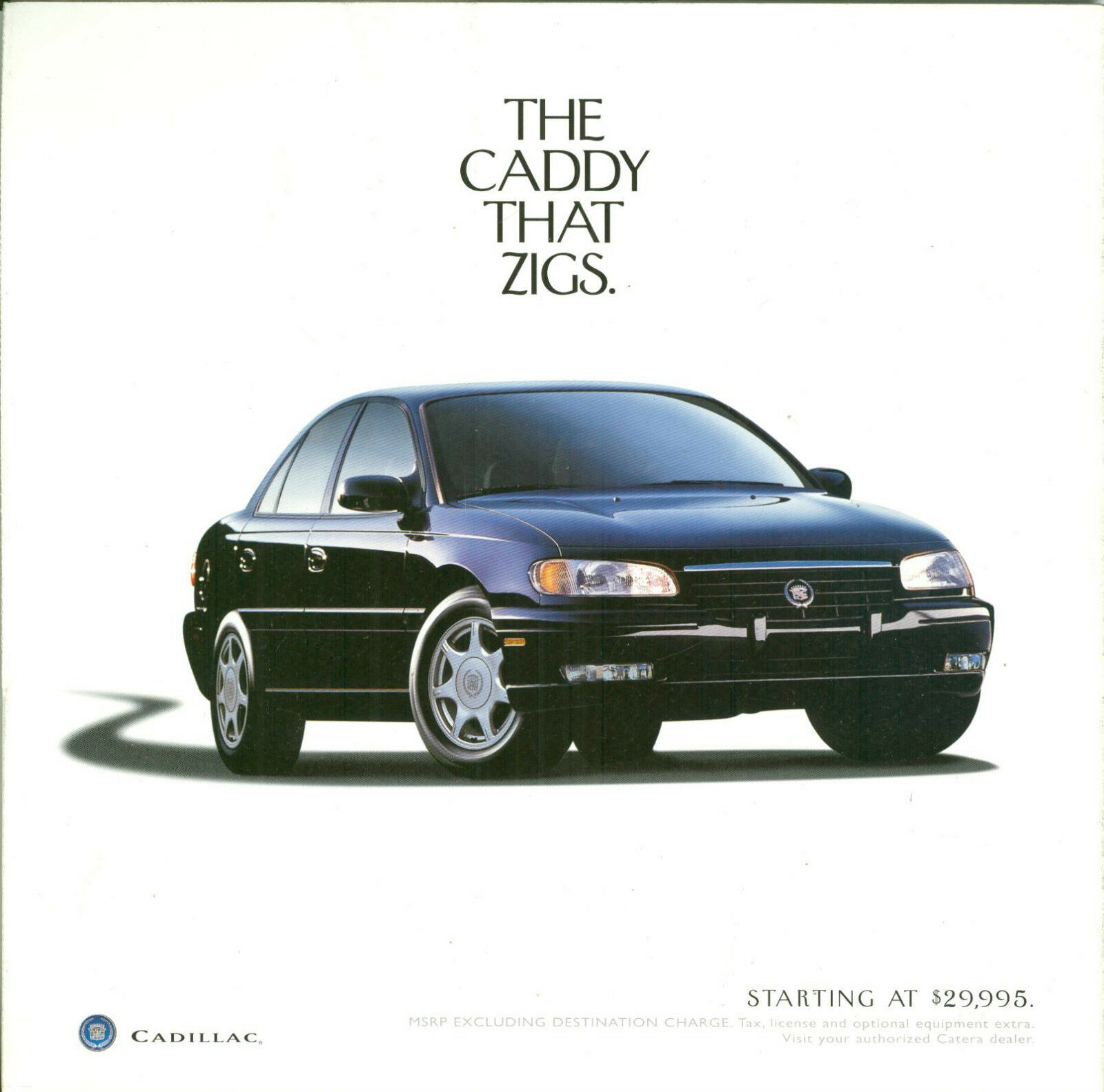 Cadillac Catera - Dealer Sales Brochure 1 of 1Only 1 available ...