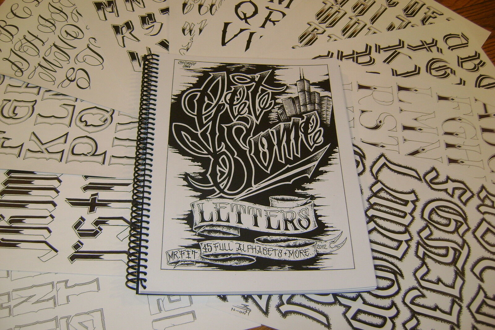 "get Some Letters"" Tattoo Lettering Book By Mr. Fit. 45 Custom ..."