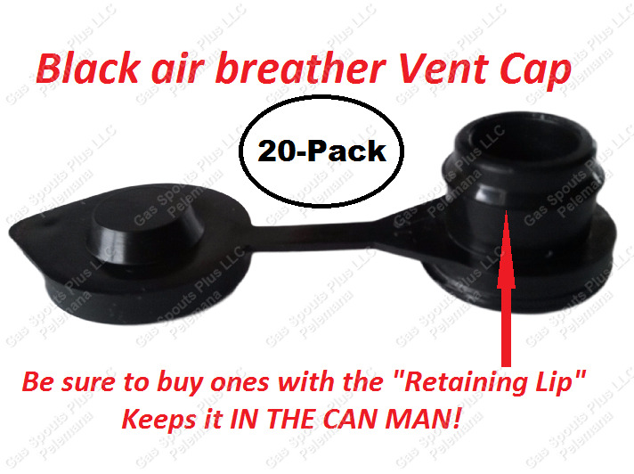 20 VENT CAPS Replacement Fuel Gas Diesel Oil Water Universal Jug Blitz Wedco x20