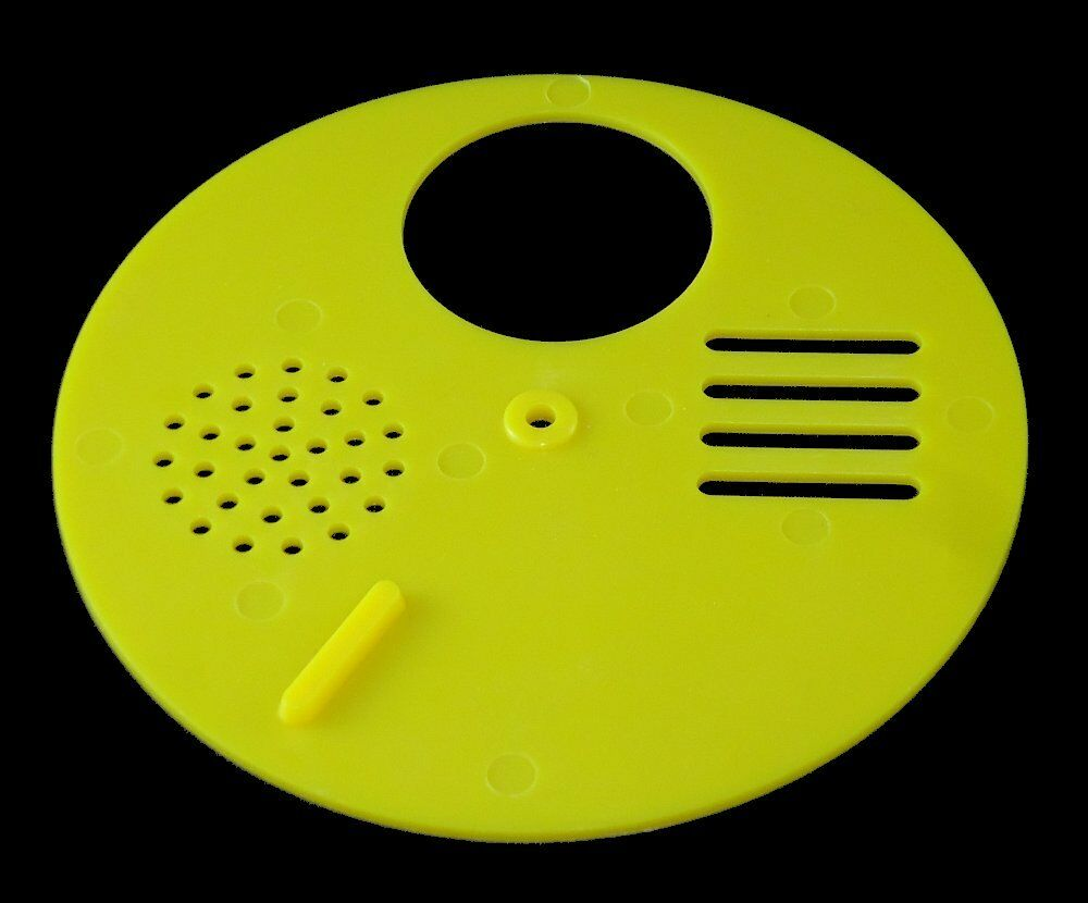 Entrance Reducer X6 - Beehive - Tbh - Rotating Bee Hive Nuc Entrance Disc Yellow