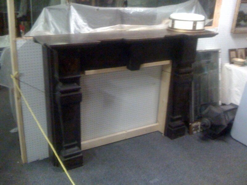 19Th Century Slate Fireplace Mantel 1 PicClick