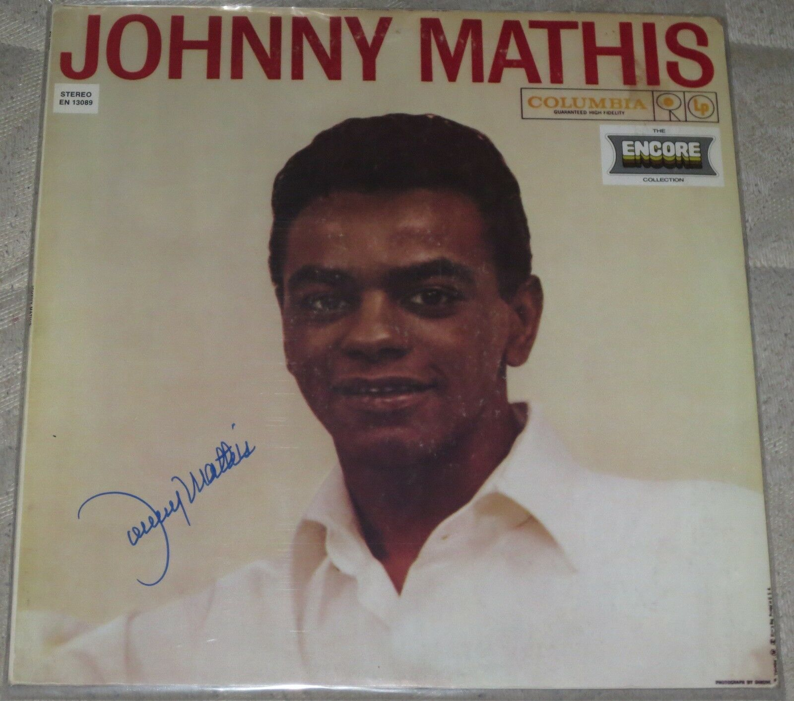 Johnny mathis legendary performer signed album in person for West mathi best item