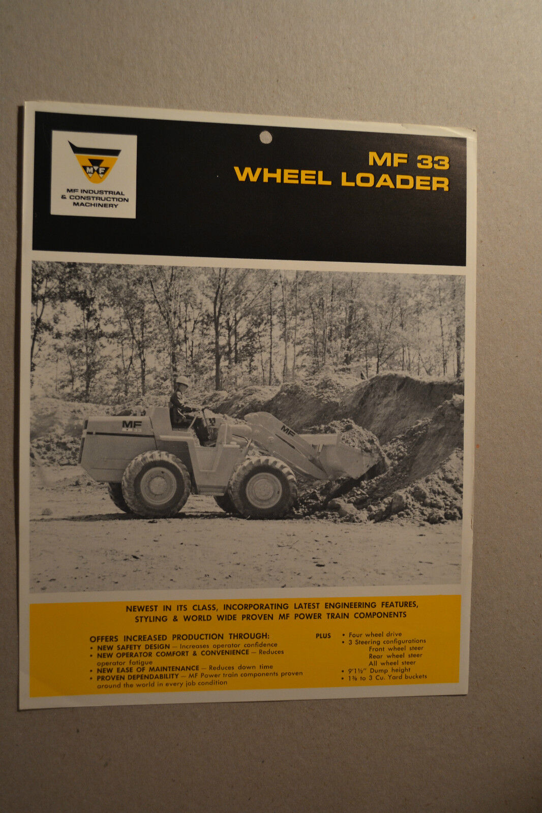 Massey Ferguson Brochure - MF 55 Wheel Loader - 1968 1 of 2Only 2 available  See More