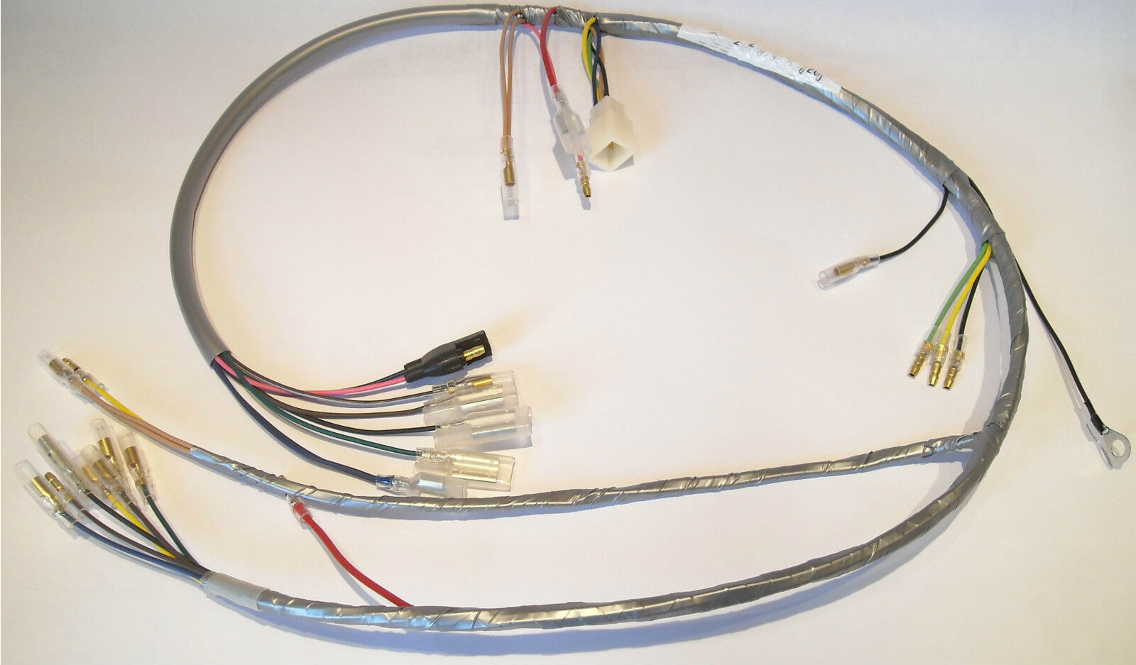 1968 Yamaha 68 Dt1 250 Enduro Wiring Harness Wire Loom Nos Vintage For A 73 Ironhead 1 Of 6 See More
