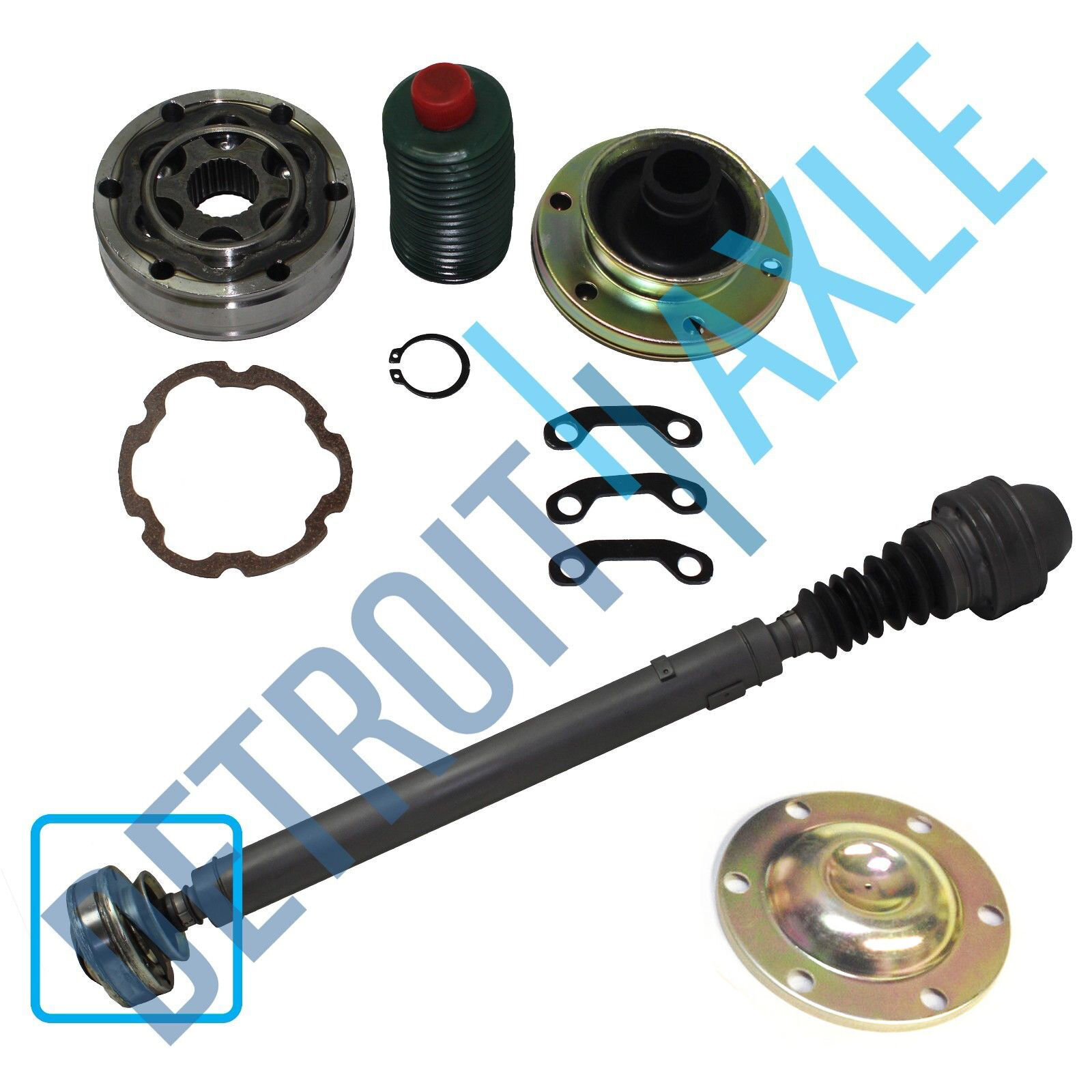 new front drive shaft complete replacement cv joint kit