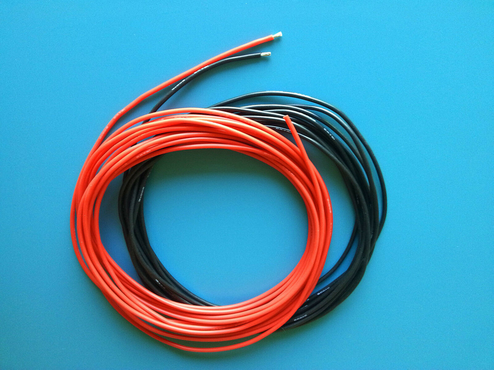 ONE PAIR OF 18 AWG / 18 Gauge Silicone Wires Silicon Cables (1m Red ...