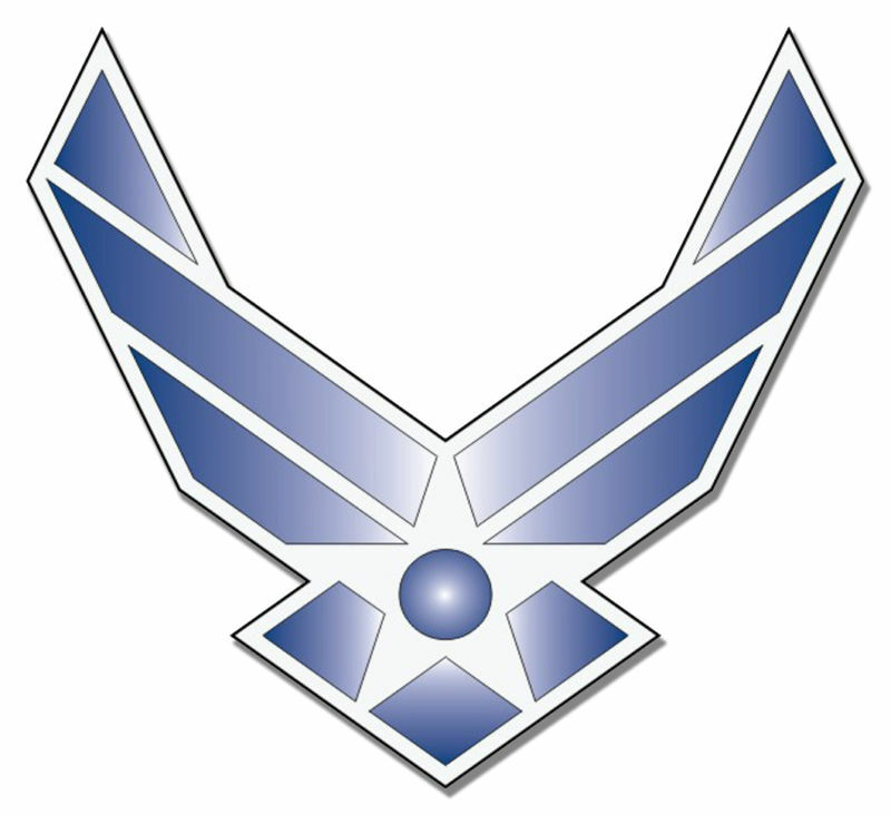 Air Force Blue Hap Arnold 55 Wings Decal Sticker Free Shipping