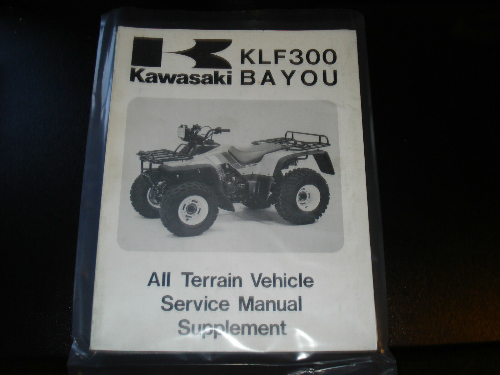 Kawasaki KLF300 BAYOU All Terrain Vehicle Service Manual Supplement 1 of  1Only 3 available ...