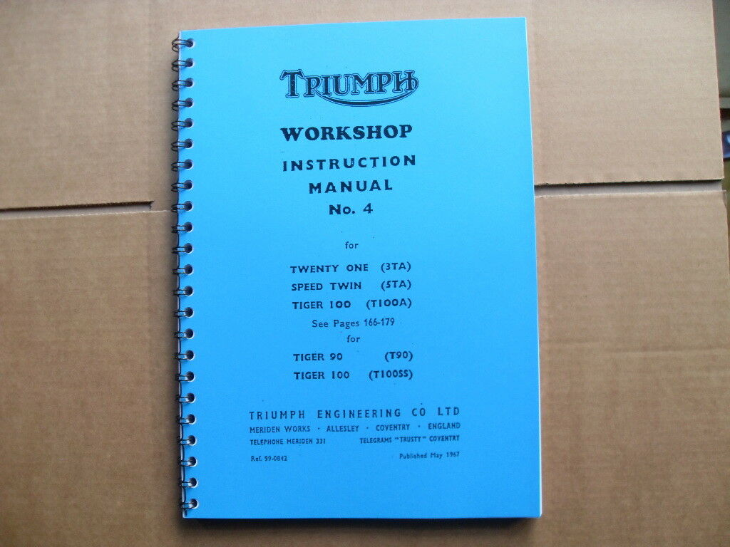 Triumph T21 3ta 5ta T100a 1957 1963 Factory Workshop Manual T90 Wiring Diagram 1 Of 6 See More