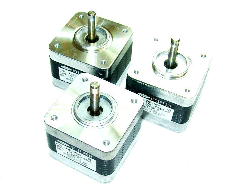 Lot Of 3 Nema 17 Minebea Stepper Motors Mill Robot Reprap