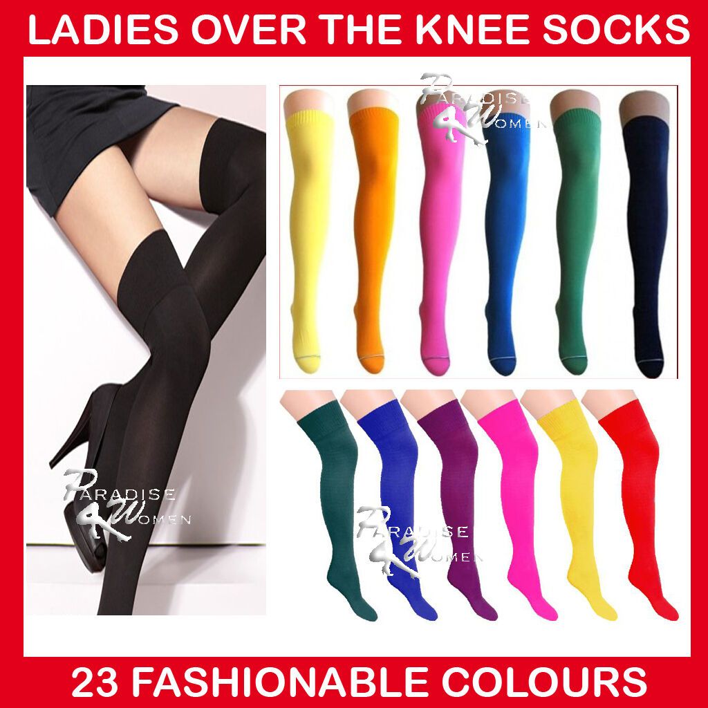 ladies over the knee socks ladies thigh high socks 22. Black Bedroom Furniture Sets. Home Design Ideas